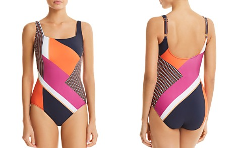 Gottex Maritime Square Neck One Piece Swimsuit - Bloomingdale's_2