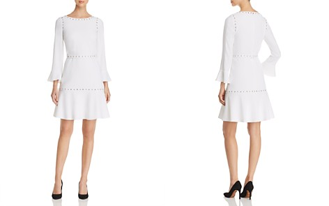 BOSS Henryke Grommet-Trimmed Fit-and-Flare Dress - Bloomingdale's_2