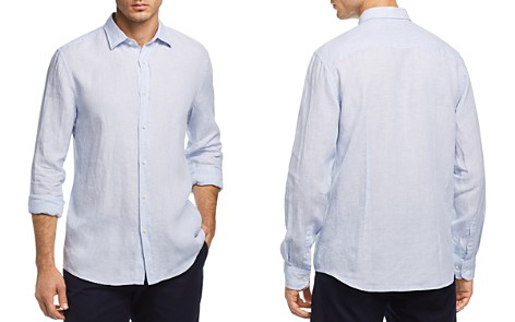 The Men's Store at Bloomingdale's Linen Regular Fit Button-Down Shirt - 100% Exclusive_2