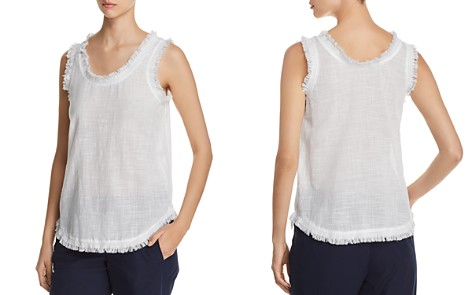 Kenneth Cole Frayed-Trim Tank - Bloomingdale's_2
