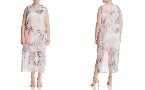 VINCE CAMUTO Plus Diffused Blooms Midi Dress - Bloomingdale's_2
