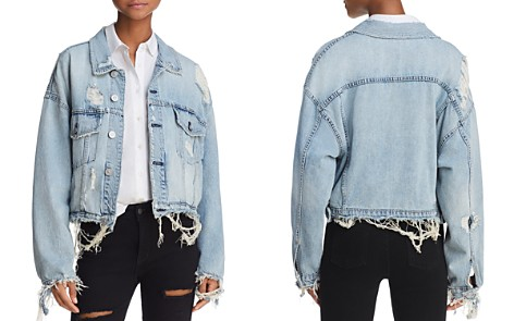 Hudson Oversize Distressed Denim Jacket in High and Dry - Bloomingdale's_2