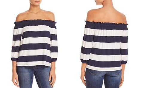 Three Dots Striped Off-The-Shoulder Top - Bloomingdale's_2