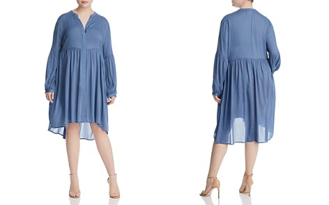 GLAMOROUS CURVY High/Low Gathered Peasant Dress - Bloomingdale's_2
