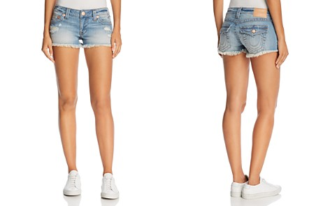 True Religion Joey Flap Cutoff Denim Shorts in Third Quarter - Bloomingdale's_2