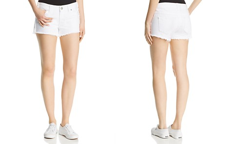 True Religion Keira Fray Denim Shorts in Optic White - Bloomingdale's_2