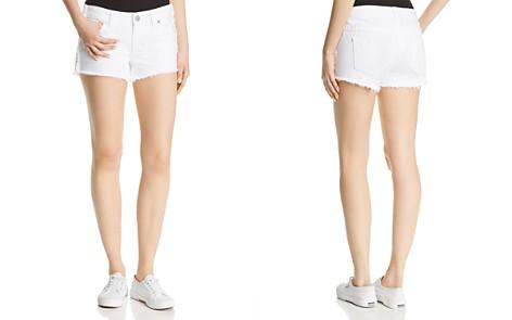 True Religion Keira Fray Denim Shorts in Optic White - Bloomingdale's_2