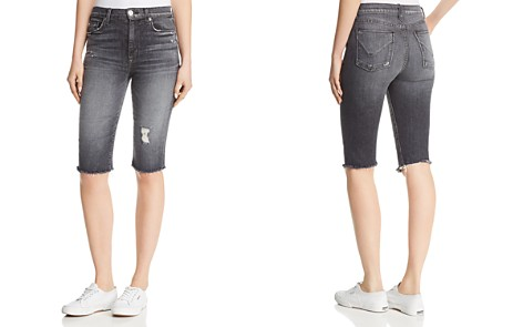 Hudson Zoeey Over-the-Knee Denim Shorts in Malice - Bloomingdale's_2