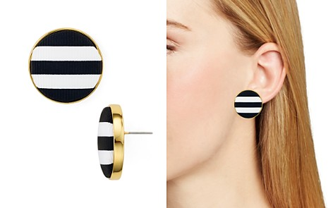 kate spade new york Striped Button Stud Earrings - Bloomingdale's_2