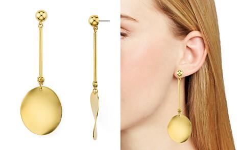 kate spade new york Linear Curved Disc Drop Earrings - Bloomingdale's_2