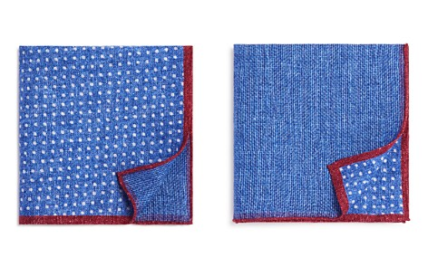 The Men's Store at Bloomingdale's Dot/Box Weave Pocket Square - 100% Exclusive_2