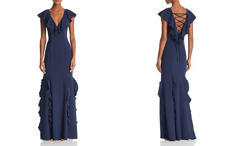 AQUA Ruffled Back-Lace-Up Gown - 100% Exclusive - Bloomingdale's_2