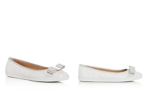 Salvatore Ferragamo Women's Rufina Quilted Leather Sneaker Flats - Bloomingdale's_2