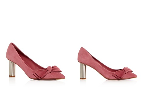 Salvatore Ferragamo Women's Garlate Suede Pointed Toe Floral Heel Pumps - Bloomingdale's_2