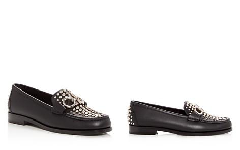 Salvatore Ferragamo Women's Rolo Studded Leather Moc Toe Loafers - Bloomingdale's_2