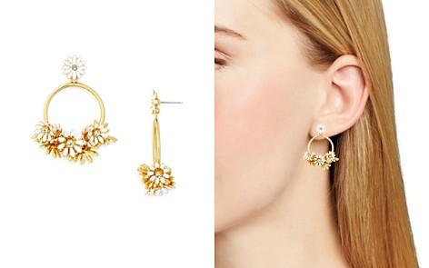 kate spade new york Flower Cluster Loop Drop Earrings - Bloomingdale's_2