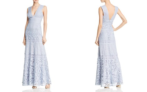 BCBGMAXAZRIA Mixed Lace Gown - Bloomingdale's_2