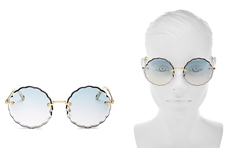 Chloé Women's Rose Scalloped Rimless Round Sunglasses, 60mm - Bloomingdale's_2