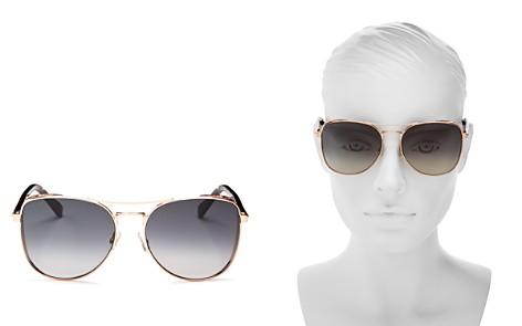 Jimmy Choo Women's Sheena Brow Bar Square Sunglasses, 60mm - Bloomingdale's_2