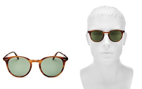 GARRETT LEIGHT Clune Round Sunglasses, 48mm - Bloomingdale's_2