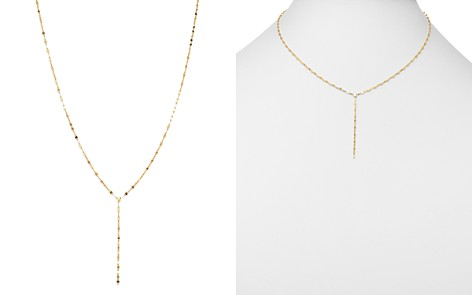 """Moon & Meadow Flat Link Chain Y Drop Necklace in 14K Yellow Gold, 17"""" - 100% Exclusive - Bloomingdale's_2"""