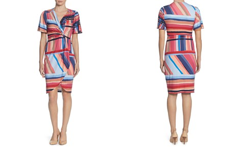 CATHERINE Catherine Malandrino Nyla Striped Twist-Front Dress - Bloomingdale's_2