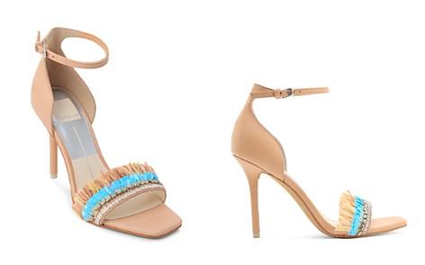Dolce Vita Women's Hyper Suede & Embellished Raffia High-Heel Sandals - Bloomingdale's_2