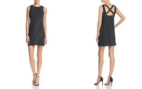 AQUA Cross Back Pinstripe Knit Dress - 100% Exclusive - Bloomingdale's_2