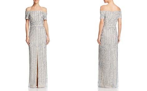Adrianna Papell Embellished Off-the-Shoulder Gown - Bloomingdale's_2