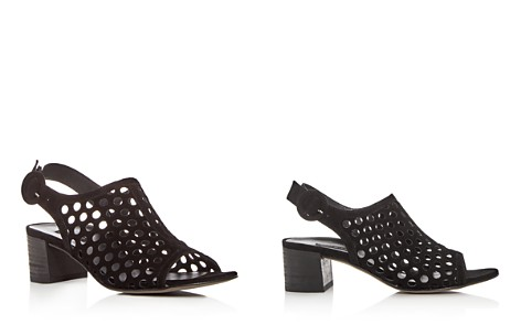 Paul Green Women's Rae Perforated Suede Block Heel Sandals - Bloomingdale's_2