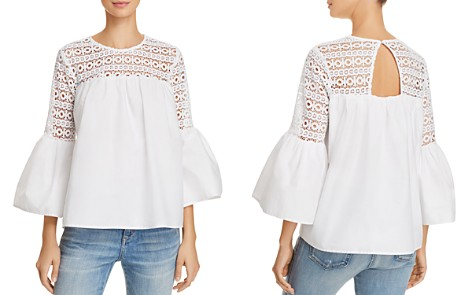 Endless Rose Louvre Lace-Inset Top - Bloomingdale's_2
