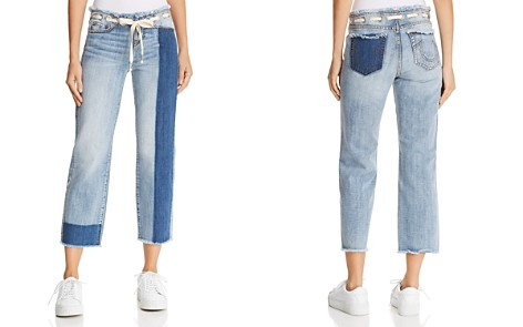 True Religion Starr Crop Straight Jeans in Baseline Destroy - Bloomingdale's_2