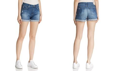 AG Hailey Denim Shorts in 11 Years Teal Sky - Bloomingdale's_2