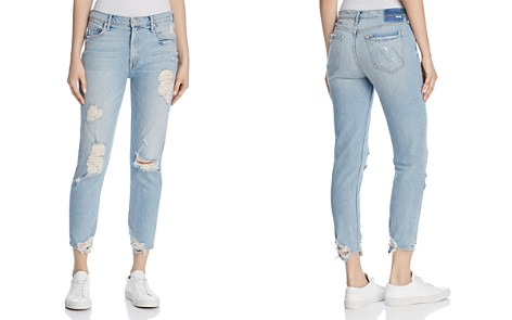 MOTHER Sinner Distressed Straight Jeans in Thanks for Nothin' - Bloomingdale's_2