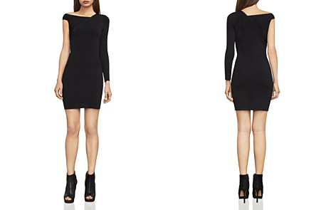 BCBGMAXAZRIA Karli Asymmetric Rib-Knit Dress - Bloomingdale's_2