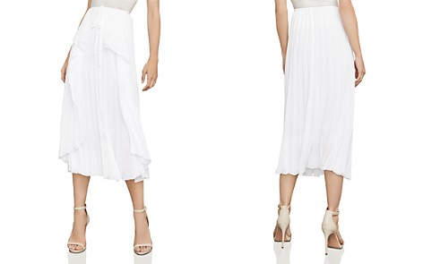 BCBGMAXAZRIA Bre Pleated Midi Skirt - Bloomingdale's_2