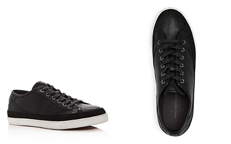 John Varvatos Star USA Men's Jet Leather Lace Up Sneakers - Bloomingdale's_2