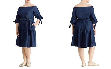 Lauren Ralph Lauren Plus Chambray Off-the-Shoulder Dress - Bloomingdale's_2