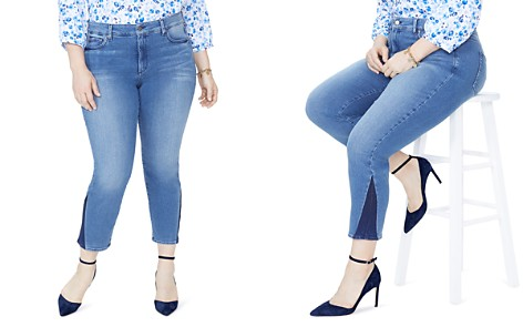 NYDJ Plus Sheri Contrast-Panel Skinny Ankle Jeans - Bloomingdale's_2