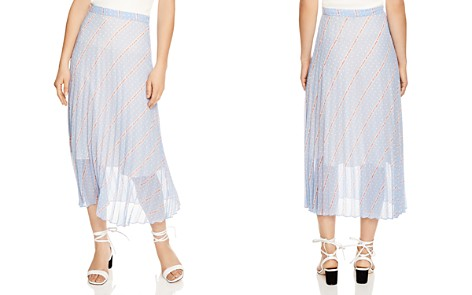 Sandro Eode Sheer-Detail Graphic Midi Skirt - Bloomingdale's_2