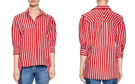 Sandro Cherie Striped Puff-Sleeve Top - Bloomingdale's_2