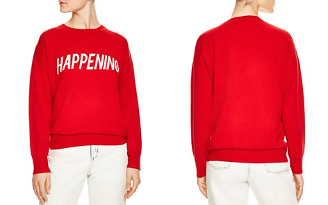 Sandro Sorella Happening Wool & Cashmere Graphic Sweater - Bloomingdale's_2