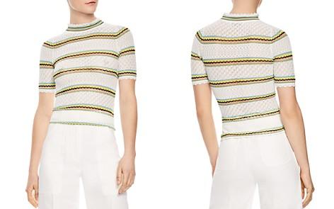 Sandro Jewel Striped Openwork Sweater - Bloomingdale's_2
