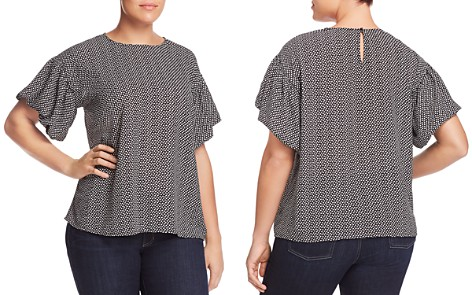 VINCE CAMUTO Plus Cabana Bubble-Sleeve Top - Bloomingdale's_2