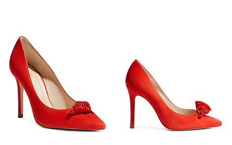 KAREN MILLEN Women's Suede Frill High Heel Pumps - Bloomingdale's_2