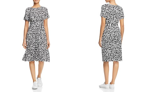 Weekend Max Mara Nazario Belted Brushstroke-Print Dress - Bloomingdale's_2