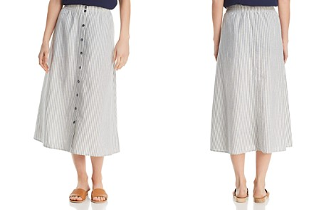 Eileen Fisher Striped Button-Down Midi Skirt - Bloomingdale's_2