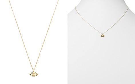 "Moon & Meadow 14K Yellow Gold Evil Eye Pendant Necklace, 16"" - Bloomingdale's_2"