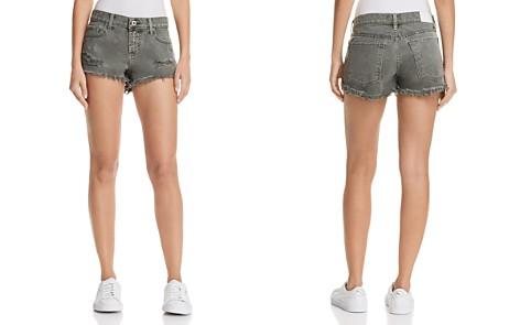 Pistola Gigi Distressed Cutoff Denim Shorts in Burnt Sage - 100% Exclusive - Bloomingdale's_2