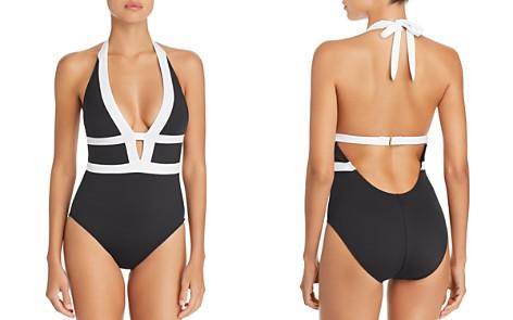 La Blanca Modern Halter One Piece Swimsuit - Bloomingdale's_2
